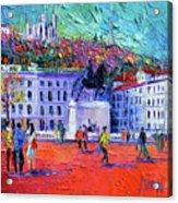 La Place Bellecour A Lyon Acrylic Print