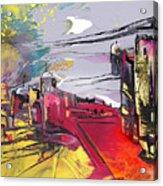 La Place Rouge Espagnole Acrylic Print