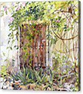 La Puerta Vieja Y Macetas Acrylic Print
