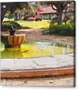 la Purisima Fountain Acrylic Print