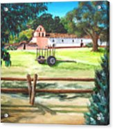 La Purisima With Fence Acrylic Print