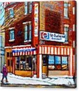 La Quebecoise Restaurant Montreal Acrylic Print