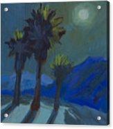 La Quinta Cove And Moonlight Acrylic Print