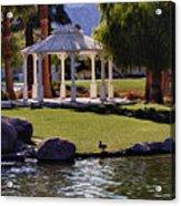 La Quinta Park Lake And Gazebo Acrylic Print