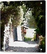 La Romita Garden Path Acrylic Print