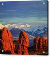 La Sal Mountains In Arches Np Utah Acrylic Print