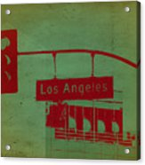 La Street Ligh Acrylic Print
