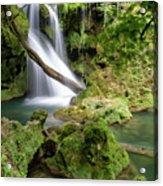 La Vaioaga Waterfall Acrylic Print