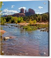 Lab In River At Sedona Arizona Acrylic Print