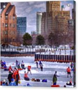Labatt Pond Hockey 2011 Acrylic Print by Don Nieman