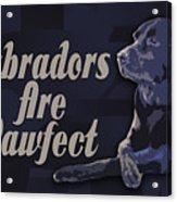 Labradors Are Pawfect Acrylic Print