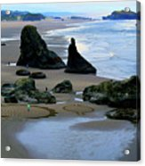 Labyrinths At Bandon Beach Acrylic Print