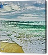 Lacanau Plage Panoramique Acrylic Print