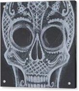 Lace Sugar Skull Acrylic Print