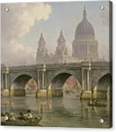 Blackfriars Bridge And St Paul's Cathedral Acrylic Print