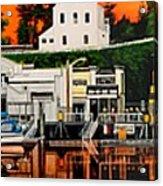 Laconner Waterfront Art Panel Acrylic Print