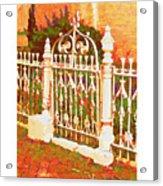 Lacy Garden Gate Acrylic Print