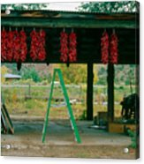 Ladder And Ristras Sopyn's Fruit Stand Rinconada Nm Acrylic Print
