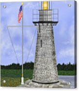 Ladies Delight Lighthouse Maine Acrylic Print
