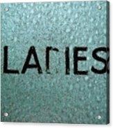 Ladies Acrylic Print