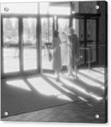 Ladies Leaving The Mall  Acrylic Print