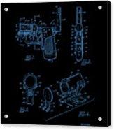 Ladies Pistol Compact Patent Art Acrylic Print