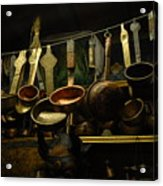 Ladles Of Tibet Acrylic Print by Donna Caplinger