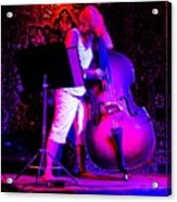 Lady And Her Bass Acrylic Print