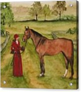 Lady And Horse Acrylic Print