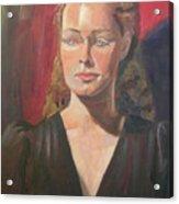 Lady Ann Acrylic Print by Lilibeth Andre