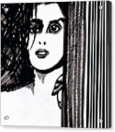 Lady At The Door Acrylic Print
