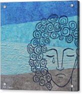 Lady Blue Acrylic Print