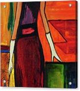 Bichon Frise Lady Acrylic Print