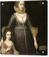 Lady Cavendish Later Countess Acrylic Print