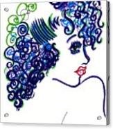 Lady Flirting Acrylic Print