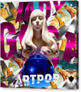 Lady Gaga Graphic Art Acrylic Print