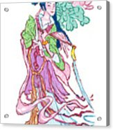 Lady He Of The Eight Immortals Acrylic Print