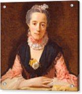 Lady In A Pink Silk Dress Acrylic Print