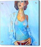 Lady In Blue II Acrylic Print