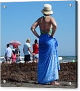 Lady In Blue Acrylic Print