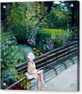 Lady In Central Park Acrylic Print