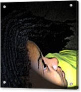 Lady In Dreadz Acrylic Print