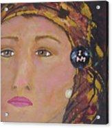 Lady In Head Scarf  Acrylic Print