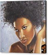 Lady In Leopard Acrylic Print