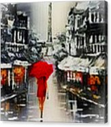 Lady In Paris Acrylic Print