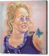Lady In Purple Acrylic Print