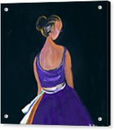Lady In Purple Acrylic Print