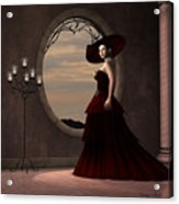 Lady In Red Dress Acrylic Print