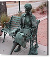 Lady In The Park Acrylic Print
