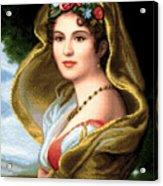 Lady In Veil Acrylic Print